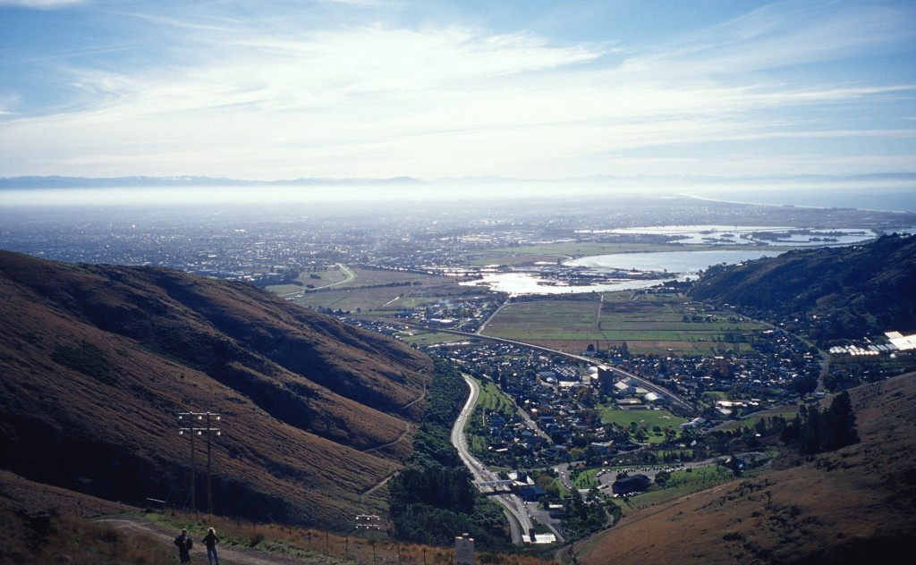 Christchurch, Viewed from Bridle Path, Port Hills (© Vilis Nams)