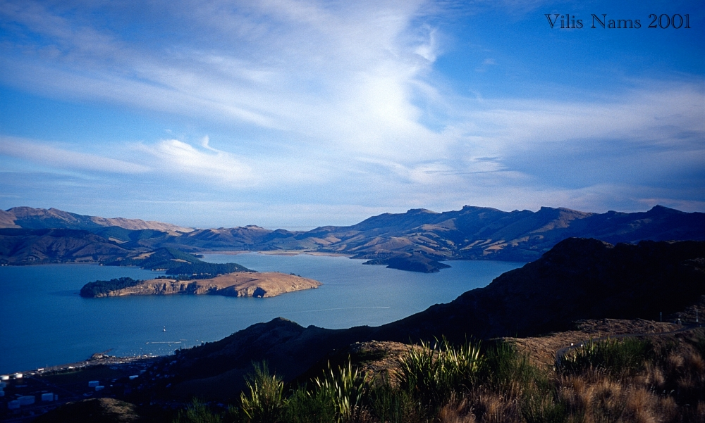 From Print to Ebook for Cry of the Kiwi: A Family's New Zealand Adventure: Lyttelton Harbour and Quail Island, South Island, New Zealand (© Vilis Nams)