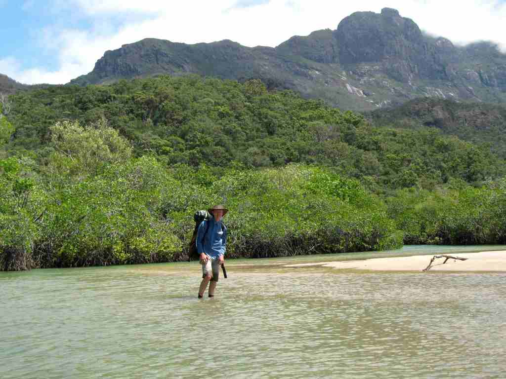 Wading to Little Ramsay Bay