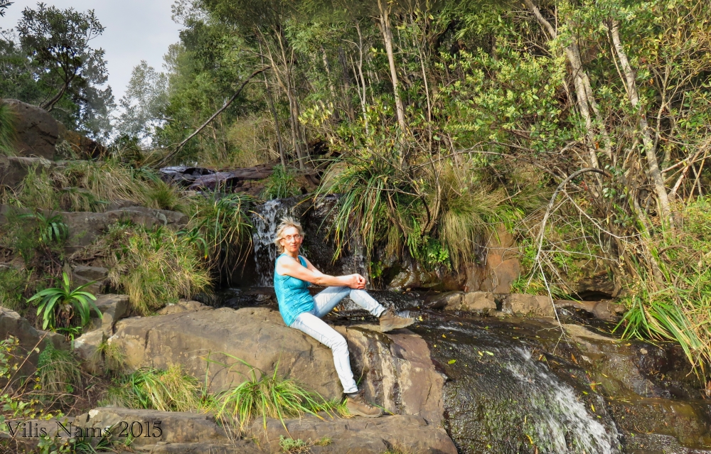 Six Months in South Africa: Hiking at Hogsback: Enjoying the sun at Lookout View in Hogsback (© Vilis Nams)