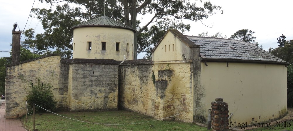 Old Provost, back view showing quarter circle (right) that contained cells. (© Magi Nams)