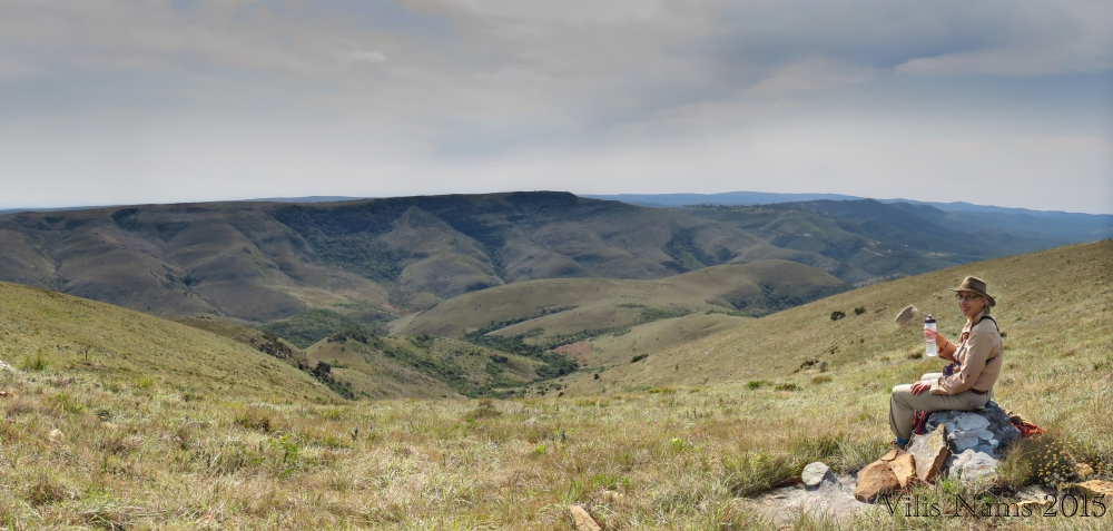 Six Months in South Africa: Hiking Oldenburgia Trail: Taking a break on Oldengurgia Trail near Grahamstown (© Vilis Nams)