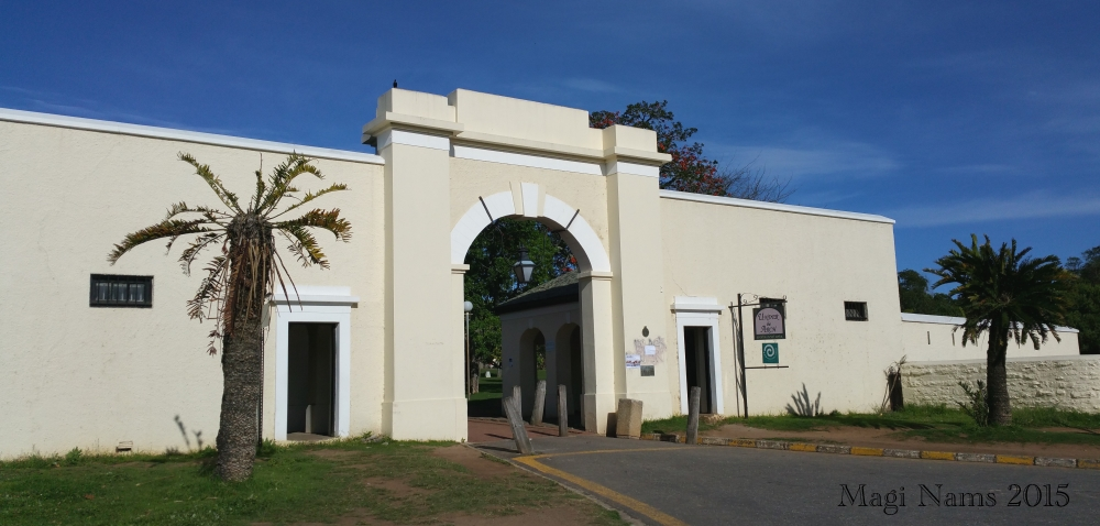 Six Months in South Africa: Settler Architecture in Grahamstown: Drostdy Arch, the former entrance to Grahamstown's military parade ground (© Magi Nams)