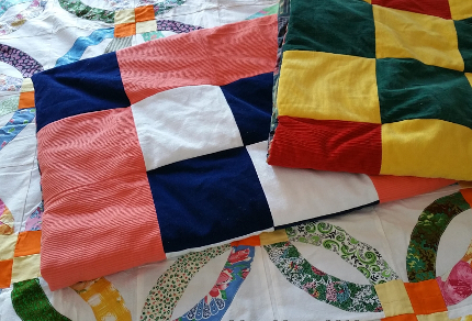 Love Your Planet: Repurpose Old Clothing: Repurpose old clothing into scrap quilts. (© Magi Nams)