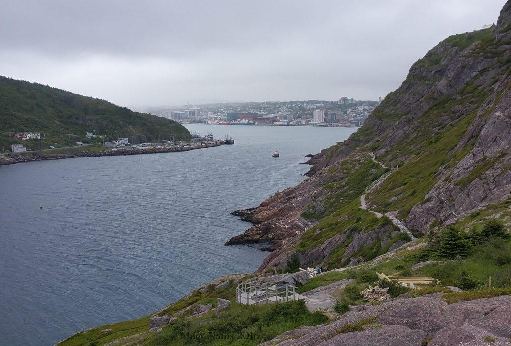 Exploring Canada: St. John's, Newfoundland and Labrador – City on the Eastern Tip of North America; : The Narrows and St. John's seen from Signal Hill Hike (© Magi Nams)