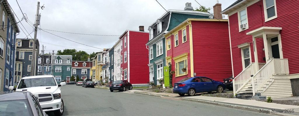 Exploring Canada: St. John's, Newfoundland and Labrador – City on the Eastern Tip of North America: St. John's Row Houses (© Magi Nams)