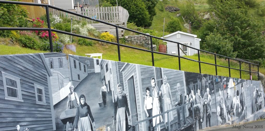 Exploring Canada: St. John's, Newfoundland and Labrador – City on the Eastern Tip of North America: Historical Mural (© Magi Nams)