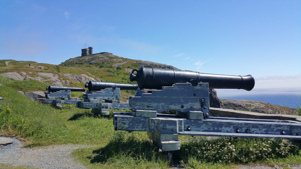 Exploring Canada: St. John's, Newfoundland and Labrador – City on the Eastern Tip of North America: Cannons and Cabot Tower on Signal Hill, St. John's (©Magi Nams)(
