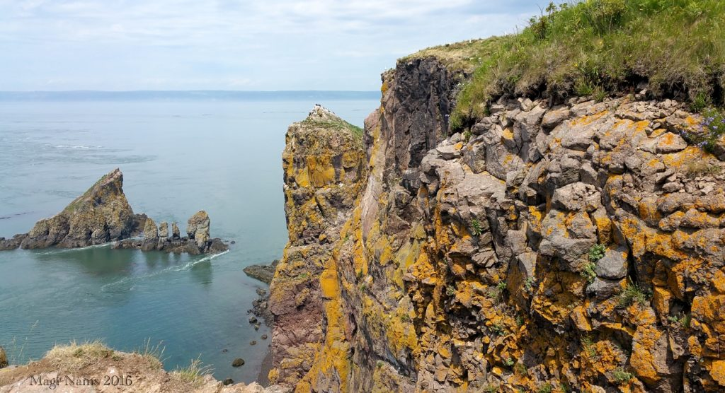 Hiking in Canada: Cape Split, Nova Scotia: Rock Stacks at Cape Split (©Magi Nams)