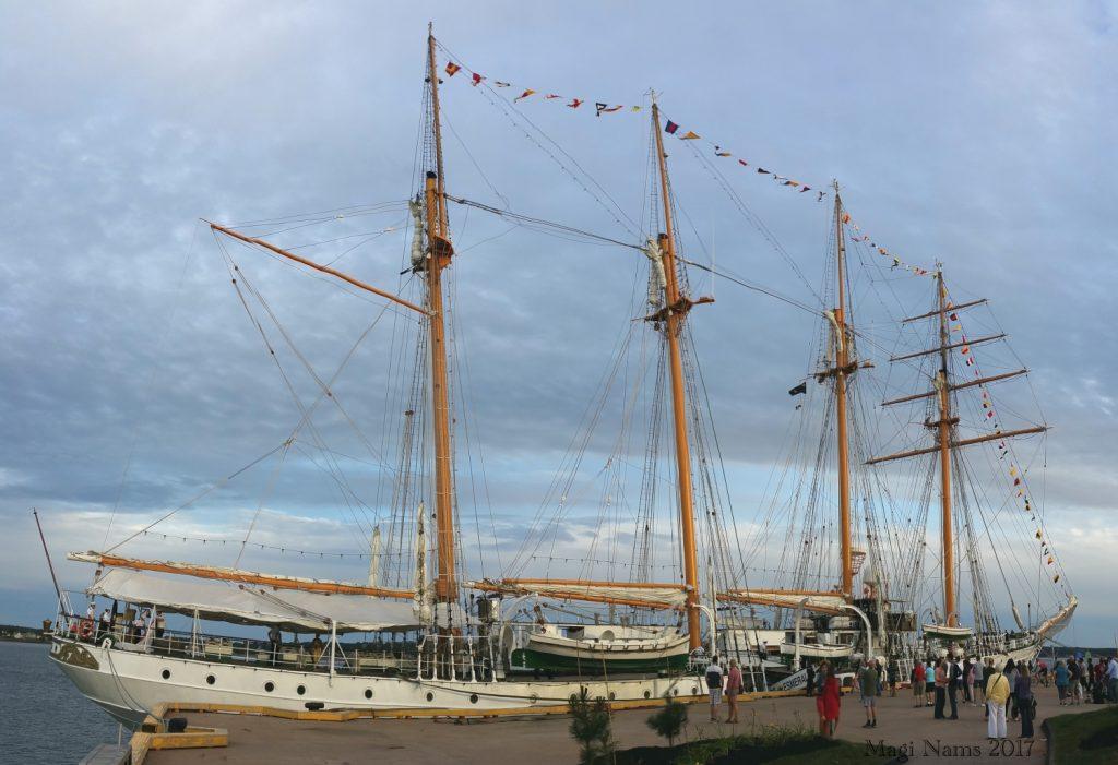 Images from Prince Edward Island: Chilean naval training ship Esmeralda docked at Charlottetown Waterfront (©Magi Nams)