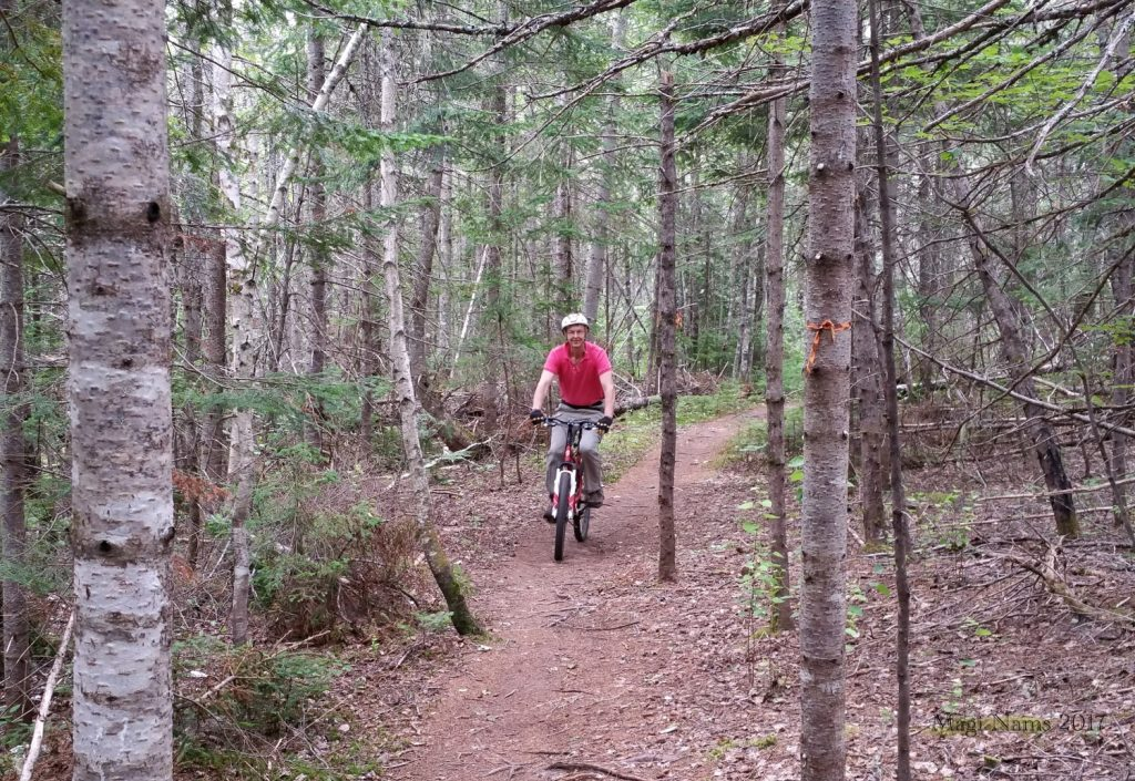 Hiking in Canada: Gairloch Road Trail, Prince Edward Island: Mountain Biking on Gairloch Road Trail (© Magi Nams)
