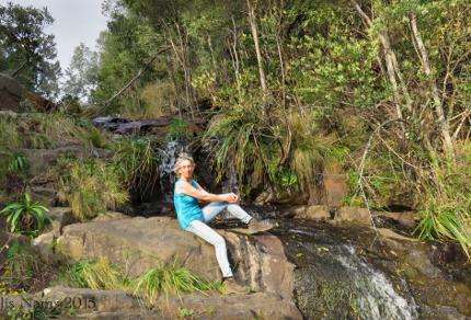 Six Months in South Africa: Hiking at Hogsback: Enjoying the sun at Lookout Vew in Hogsback (© Vilis Nams)