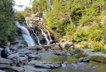 Hiking in Canada: Fundy National Park: Laverty Falls, Fundy National Park, New Brunswick (© Magi Nams)